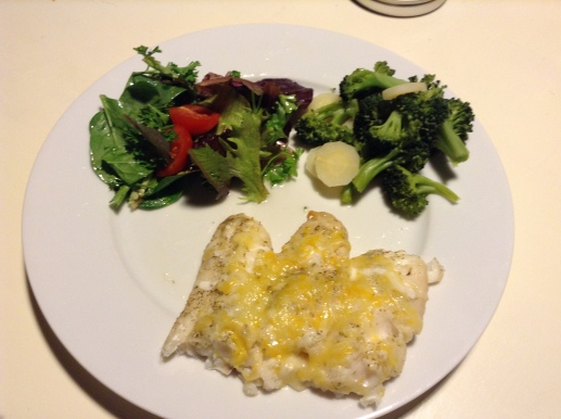 Fish baked with Cheese