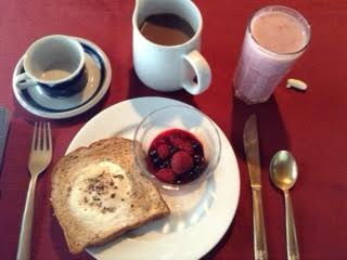 buttermilk baked eggs:mixed berries
