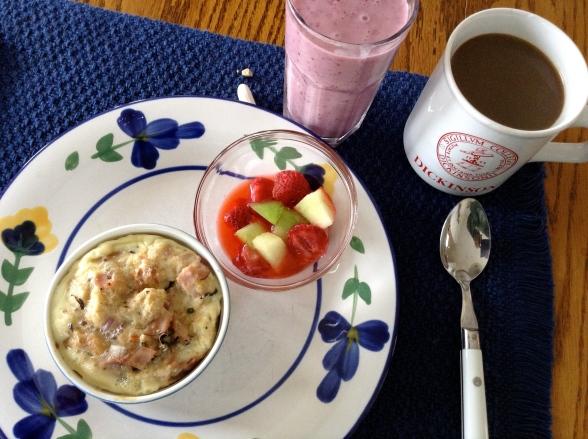 Breakfast Casserole w: mixed fruit