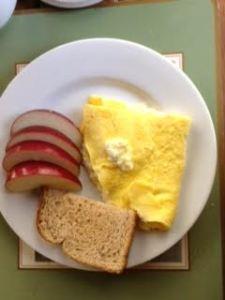 creamy Greek omelette
