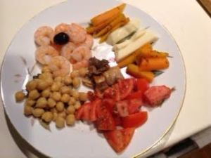 Meze Meal w: shrimp,