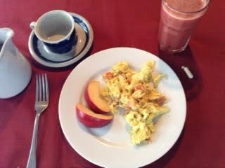 PM scramble or Ham omelette? w: apple