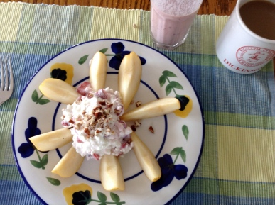 Strawberry Cottage Cheese with Pear
