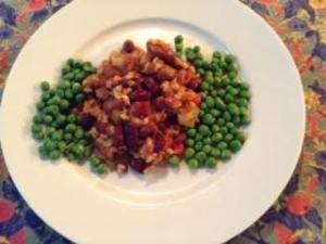 red beans & rice w: peas