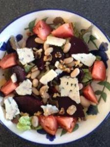 Beet & Bleu Cheese Salad