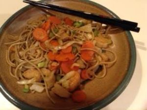 soba:shrimp quickfry
