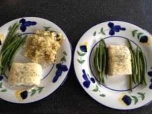 Baked White Fish for 2