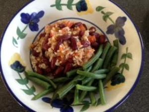 Red Beans & Rice w: gr. beans
