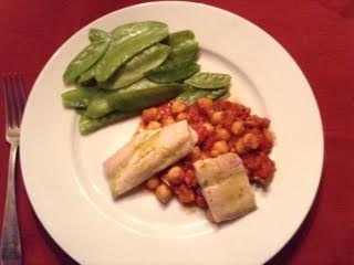 Shad w: chickpea ragout