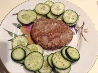 Lamb w: Swedish cucumber salad