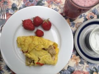 Veg:chevre omelette