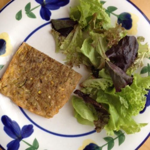 Zucchini Quiche w: salad
