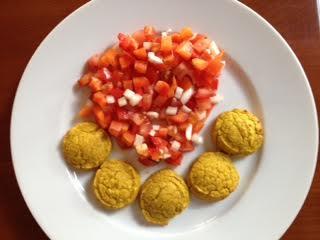 Felafel w: veg salad