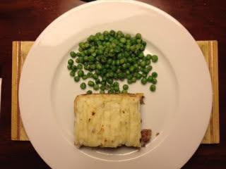 Shepherd's Pie w: peas