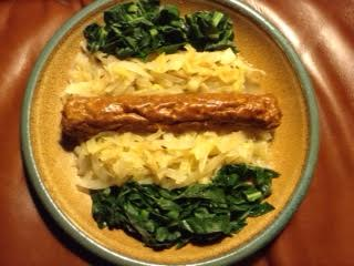 Sauerkraut & Sausage w: collards