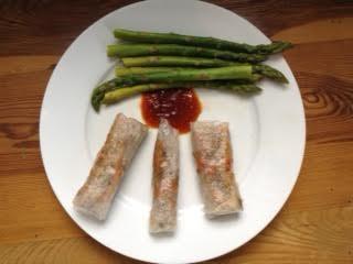 Beef Spring Rolls w: asparagus