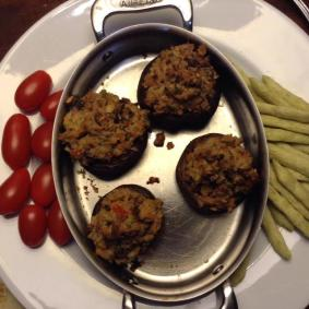 clam-stuffed mushrooms