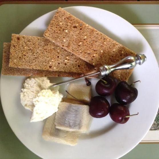 herring Plate w: cherries