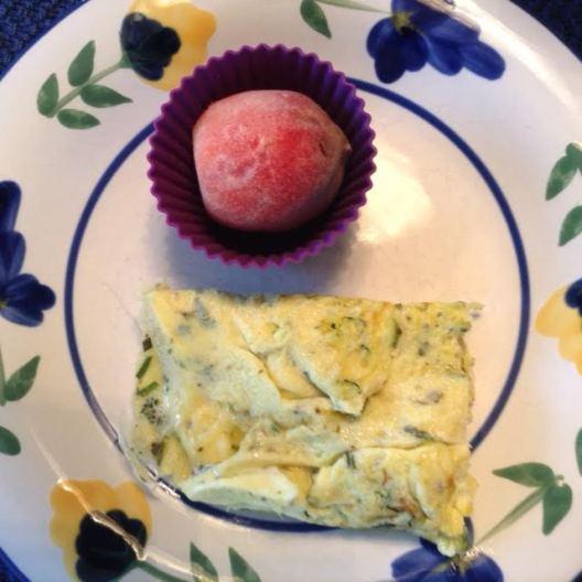Zucchini ScrOmelette w: peach