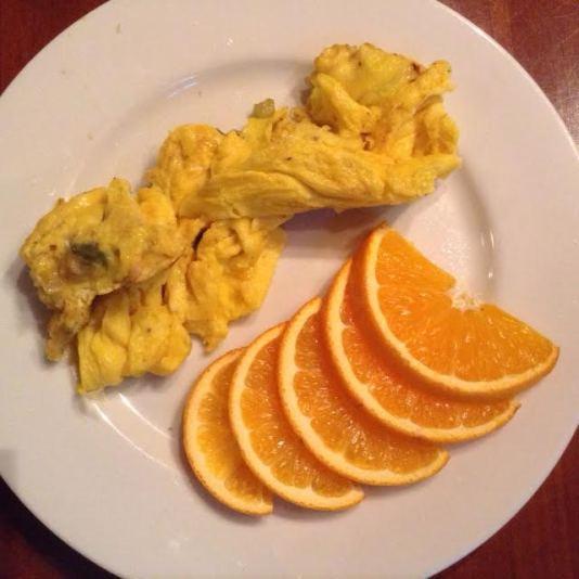 Cajun ScrOmelette w: orange