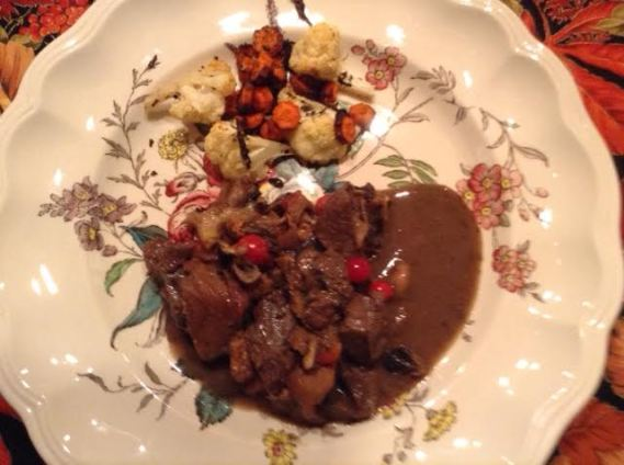 Venison Stew w: roasted Veg