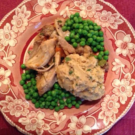Chicken & Dumpling w: peas