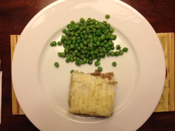Cottage Pie w: peas