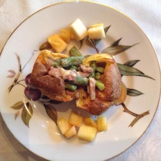 Ham-Asparagus Popover