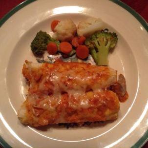 Enchiladas w: winter medley