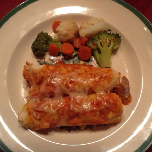 Enchiladas w: winter medley
