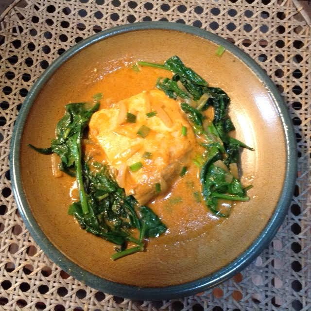 Halibut w: Coconut Curry