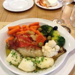 Azores Cod w: Veg @ Restaurant