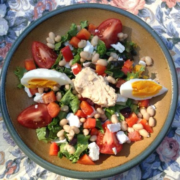 Feta:tuna:bean:egg Salad