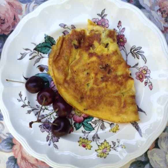 Kippered Eggs w: cherries