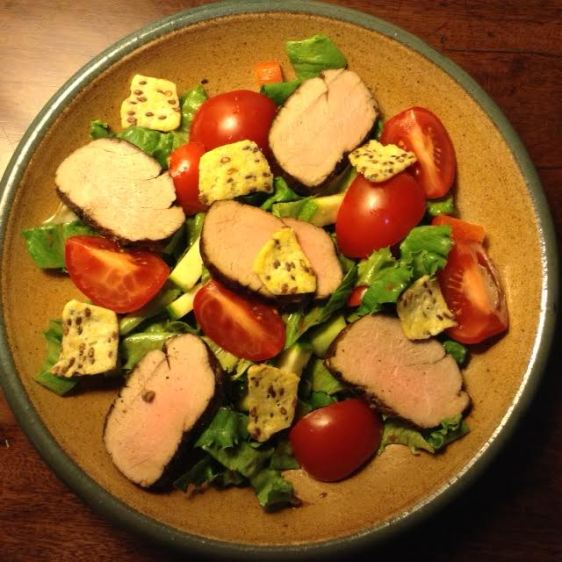 Pork Salad w: Flax-Corn Chips