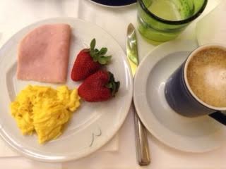 Fasting breakfast in Rome