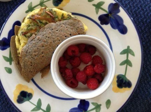 Mushroom-Egg Crepe