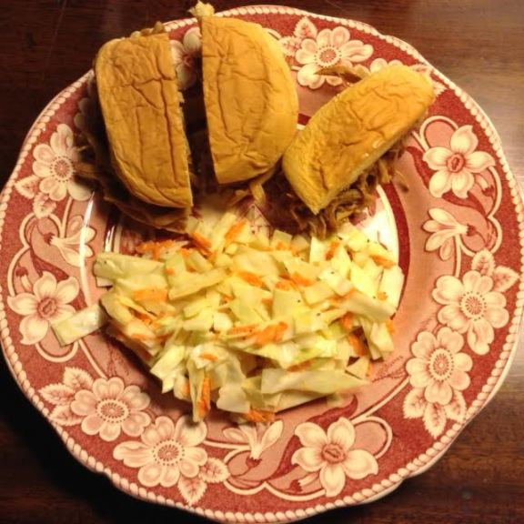 Chicken BBQ Sliders w: coleslaw