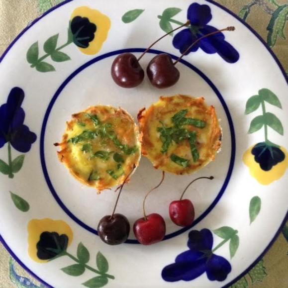 Eggs in Sweet Potato Cups