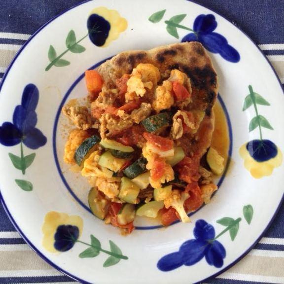 Indian Vegetables w: Naan