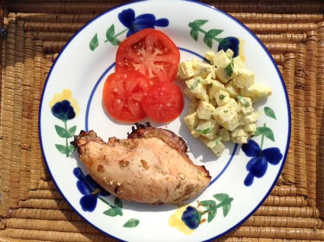 Lime Marinated Chicken, plated