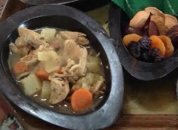 LOTR Stew + fruit