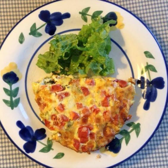 Vegetable Quiche w: salad