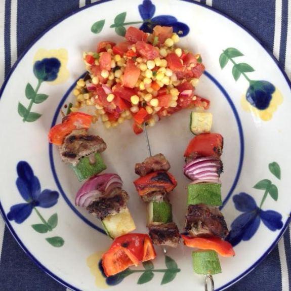 Lamb Kabobs w: corn relish