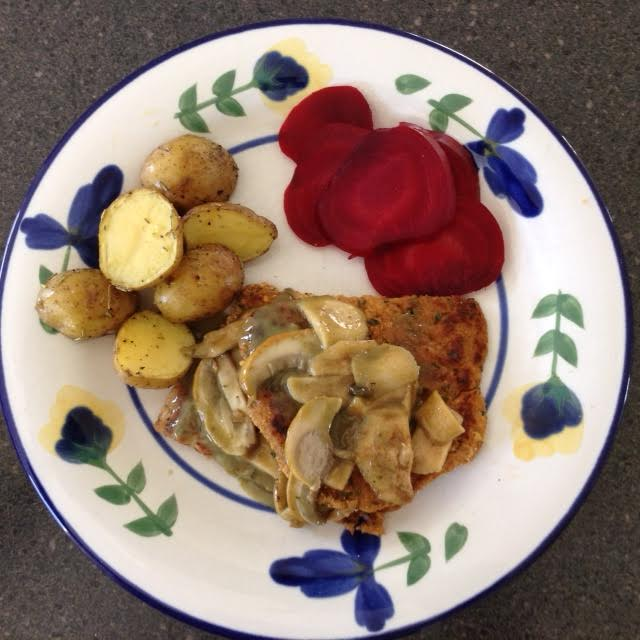 Pork Schnitzel, plated