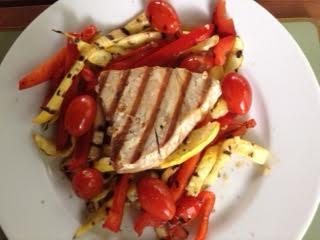 tuna & grilled veg