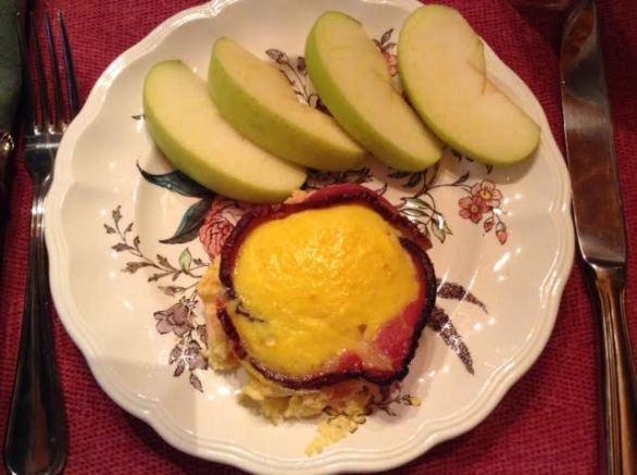 ham-cup egg