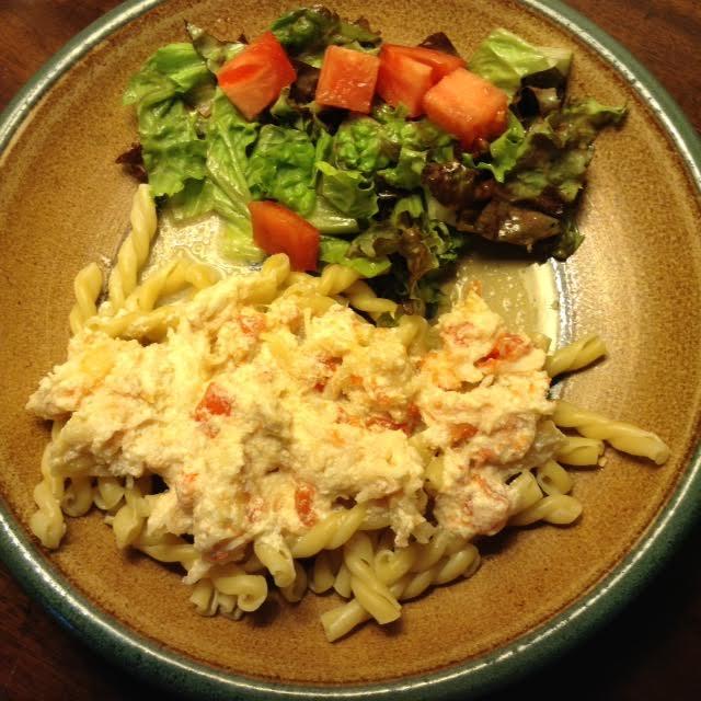 Crab Pasta, plated
