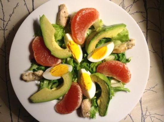 grapefruit-avocado salad